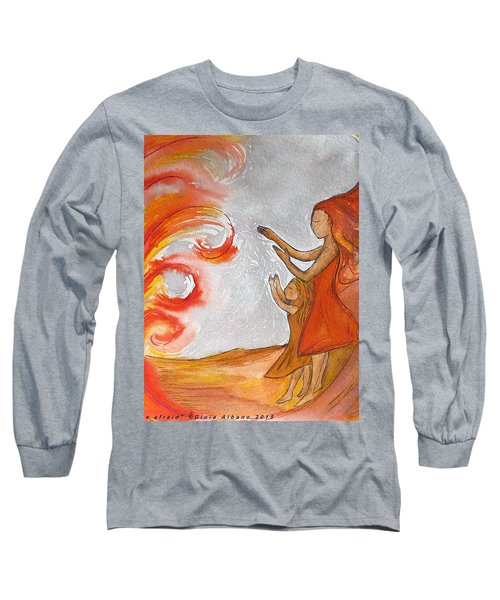 Long Sleeve T-Shirt featuring the painting Don't Be Afraid by Gioia Albano