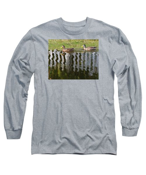 Don't Fence Us In Long Sleeve T-Shirt by Kathy M Krause