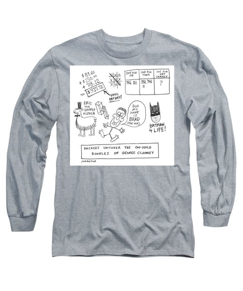 Doodles Of George Clooney Long Sleeve T-Shirt