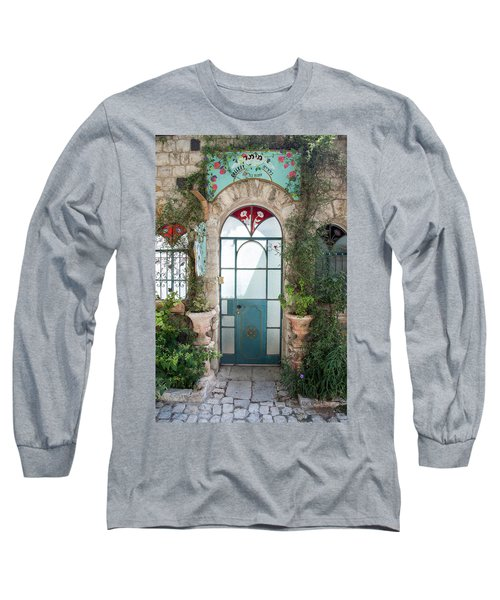 Long Sleeve T-Shirt featuring the photograph Door Entrance To The Art by Yoel Koskas