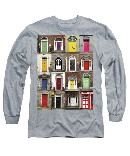 Long Sleeve T-Shirt featuring the photograph Doors Of Limerick by Marie Leslie