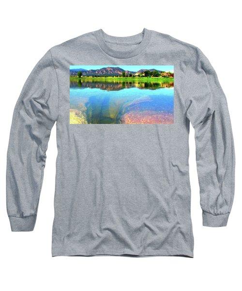 Doughnut Lake Long Sleeve T-Shirt by Eric Dee