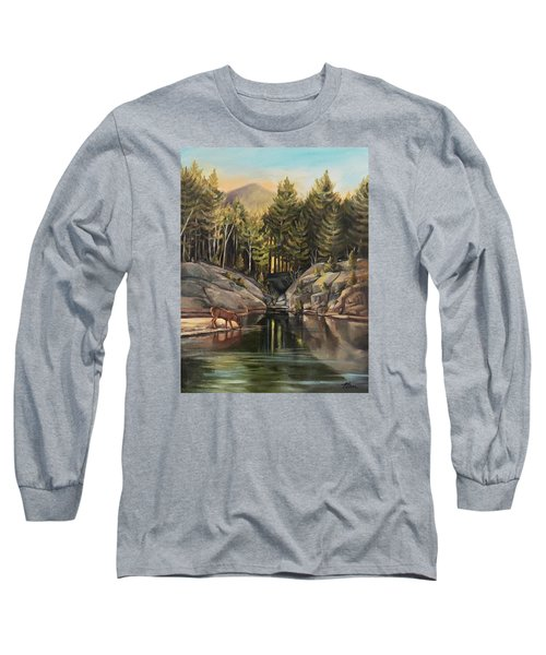 Down By The Pemigewasset River Long Sleeve T-Shirt by Nancy Griswold