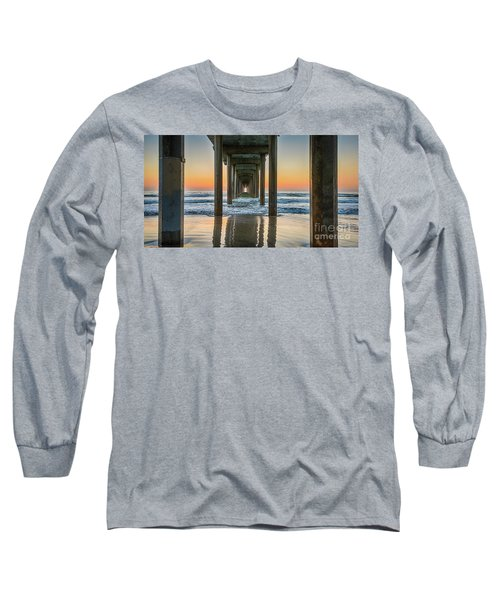 Down Under Scripp's Pier  Long Sleeve T-Shirt
