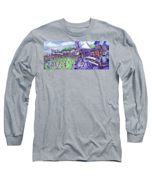 Long Sleeve T-Shirt featuring the painting Down2funk At Arise by David Sockrider