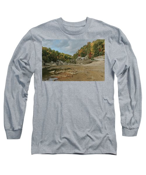 Downstream From Cumberland Falls Long Sleeve T-Shirt