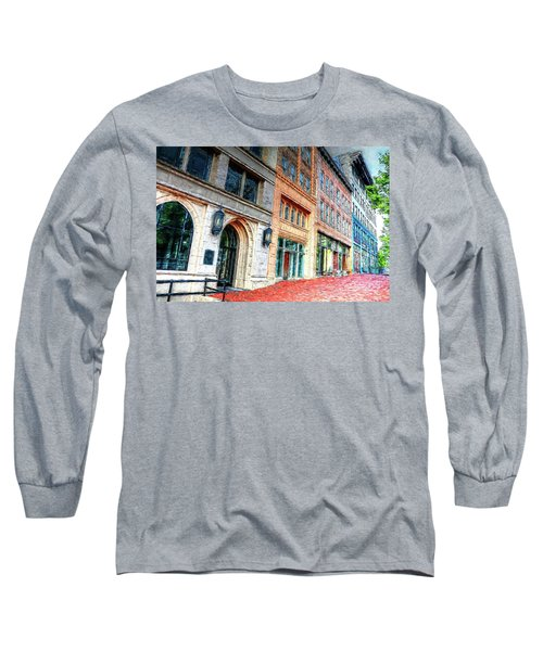 Downtown Asheville City Street Scene II Painted Long Sleeve T-Shirt