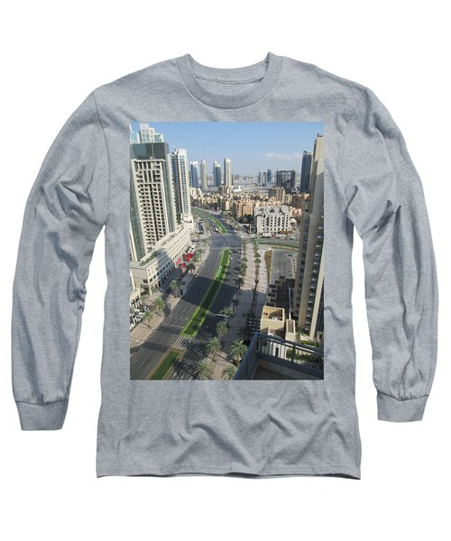 Long Sleeve T-Shirt featuring the photograph Downtown Dubai by Marie Neder