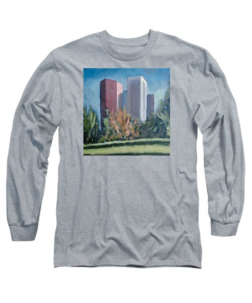 Downtown Los Angeles Long Sleeve T-Shirt by Richard Willson