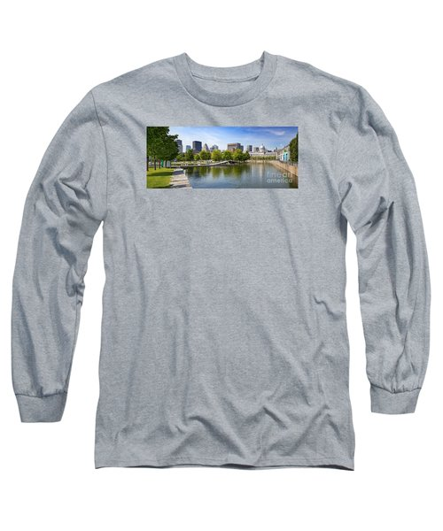 Downtown Montreal In Summer Long Sleeve T-Shirt