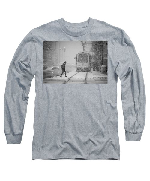 Downtown Snow Storm Long Sleeve T-Shirt