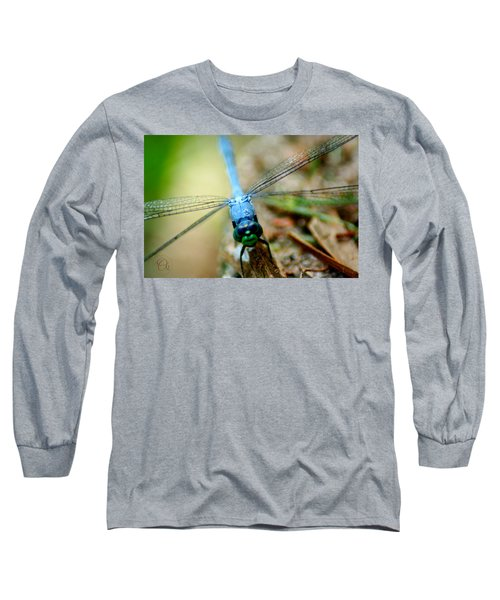 Dragonfly Closeup Long Sleeve T-Shirt by Shelley Overton