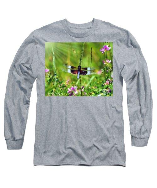 Dragonfly Delight Long Sleeve T-Shirt by Kerri Farley