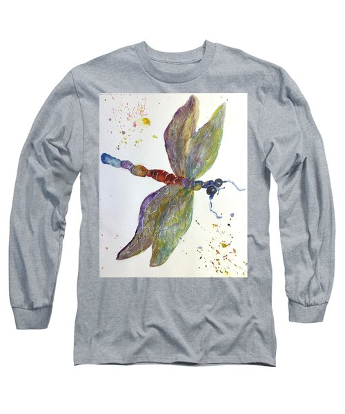Long Sleeve T-Shirt featuring the painting Dragonfly by Lucia Grilletto