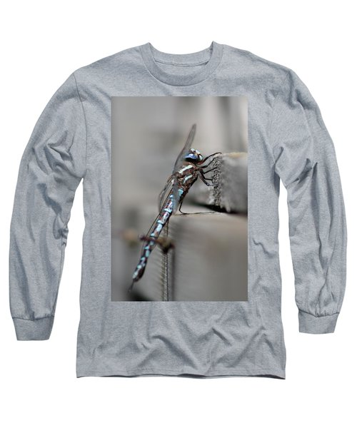 Long Sleeve T-Shirt featuring the photograph Dragonfly Pause by Cathie Douglas