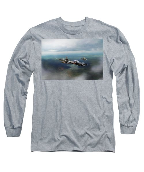 Long Sleeve T-Shirt featuring the digital art Dragonfly Special Operations by Peter Chilelli