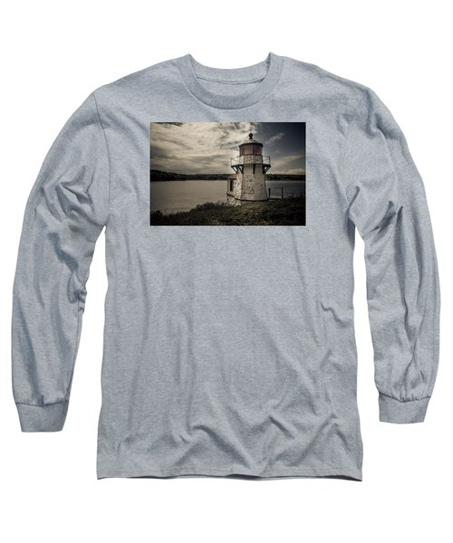 Dramatic Mid-day Shot Of Squirrel Point Long Sleeve T-Shirt