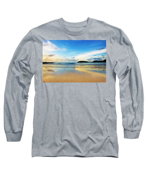 Dramatic Scene Of Sunset On The Beach Long Sleeve T-Shirt