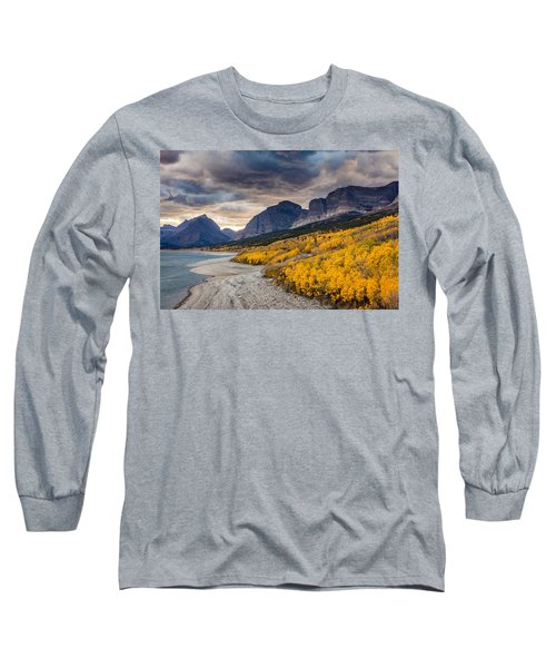 Dramatic Sunset Sky In Autumn  Long Sleeve T-Shirt by Pierre Leclerc Photography