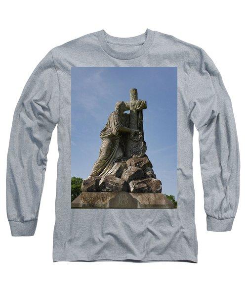Draped Cross Long Sleeve T-Shirt