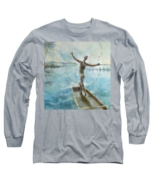 Long Sleeve T-Shirt featuring the painting Dream Catcher by Gertrude Palmer