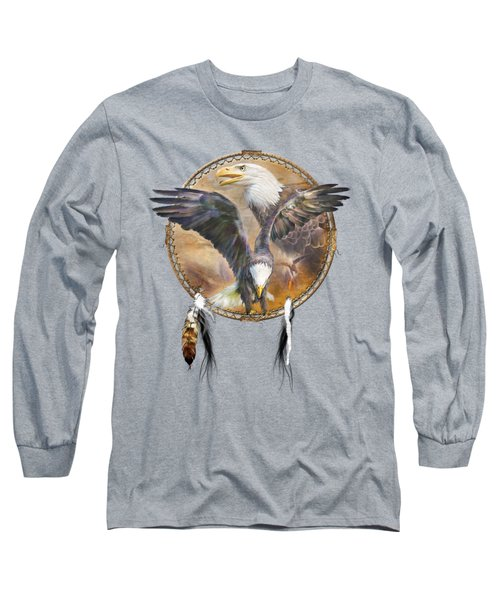 Long Sleeve T-Shirt featuring the mixed media Dream Catcher - Spirit Eagle 3 by Carol Cavalaris