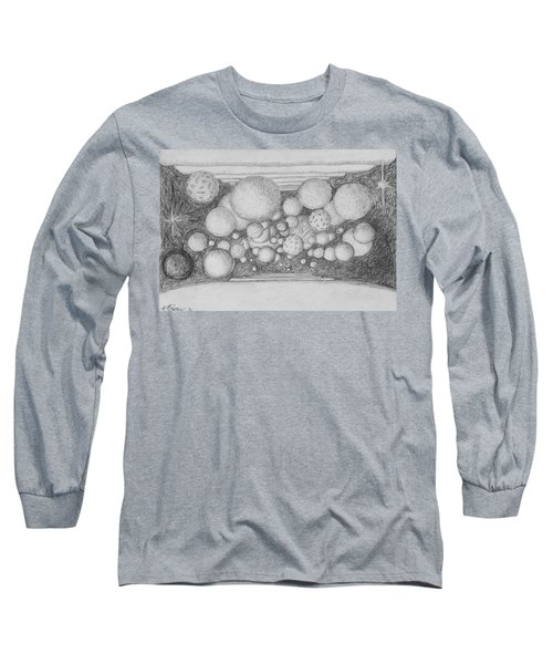 Long Sleeve T-Shirt featuring the drawing Dream Spirits by Charles Bates