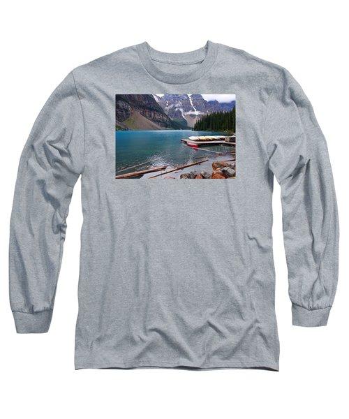 Moraine Lake, Ab  Long Sleeve T-Shirt