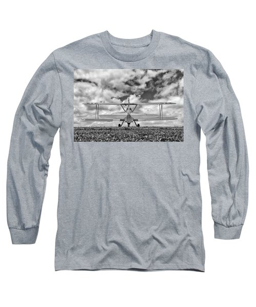 Dreaming Of Flight, In Black And White Long Sleeve T-Shirt