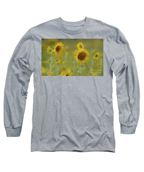 Long Sleeve T-Shirt featuring the photograph Dreaming Of Sunflowers by Benanne Stiens