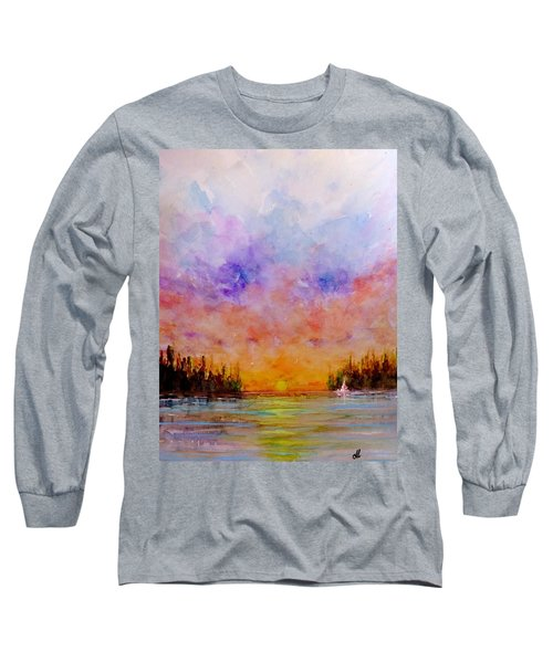 Long Sleeve T-Shirt featuring the painting Dreamscape.. by Cristina Mihailescu