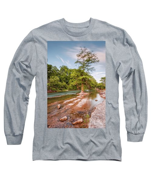 Dreamy Bald Cypress At Guadalupe River - Canyon Lake Texas Hill Country Long Sleeve T-Shirt