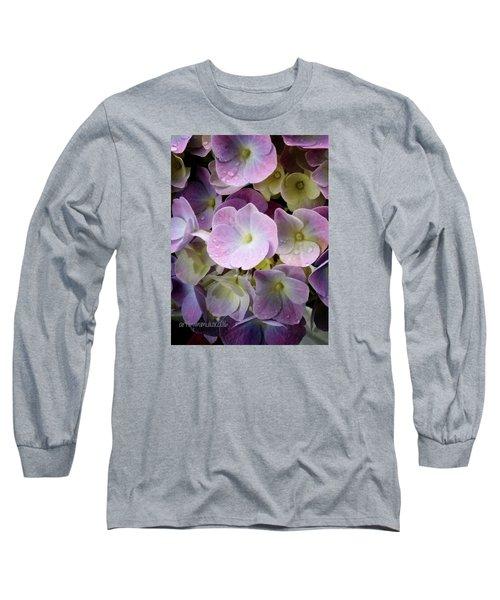 Dreamy Hydrangea Long Sleeve T-Shirt by Mimulux patricia no No