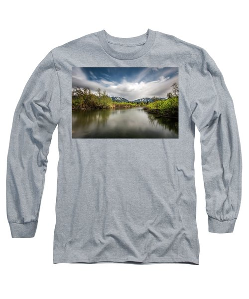 Long Sleeve T-Shirt featuring the photograph Dreamy River Of Golden Dreams by Pierre Leclerc Photography