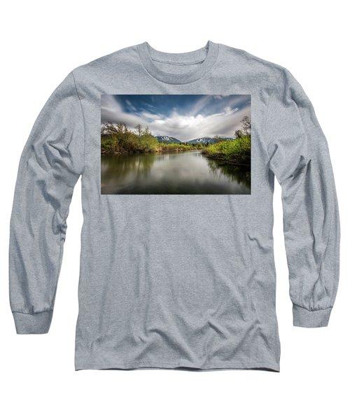 Dreamy River Of Golden Dreams Long Sleeve T-Shirt