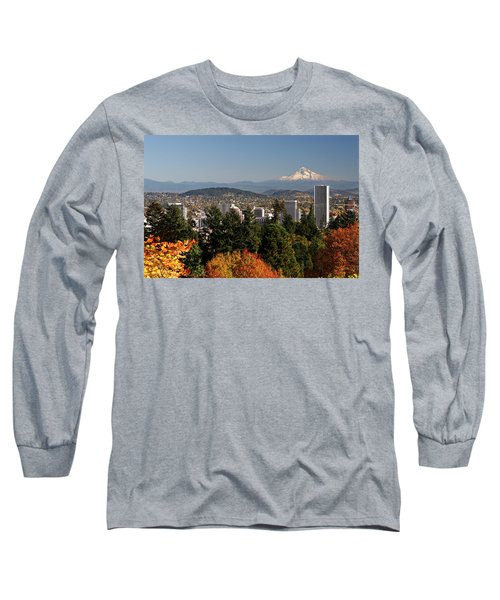 Dressed In Fall Colors Long Sleeve T-Shirt by Wes and Dotty Weber