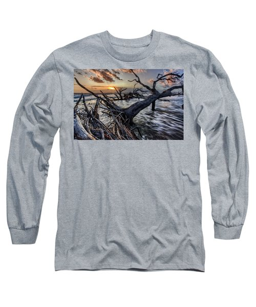 Driftwood Beach 5 Long Sleeve T-Shirt