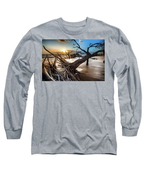 Driftwood Beach 7 Long Sleeve T-Shirt