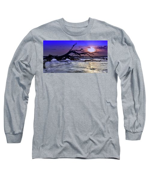 Driftwood Beach 9 Long Sleeve T-Shirt