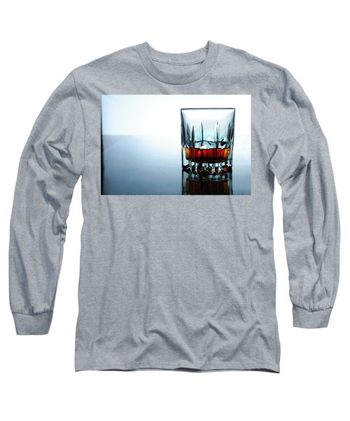Drink In A Glass Long Sleeve T-Shirt by Jun Pinzon