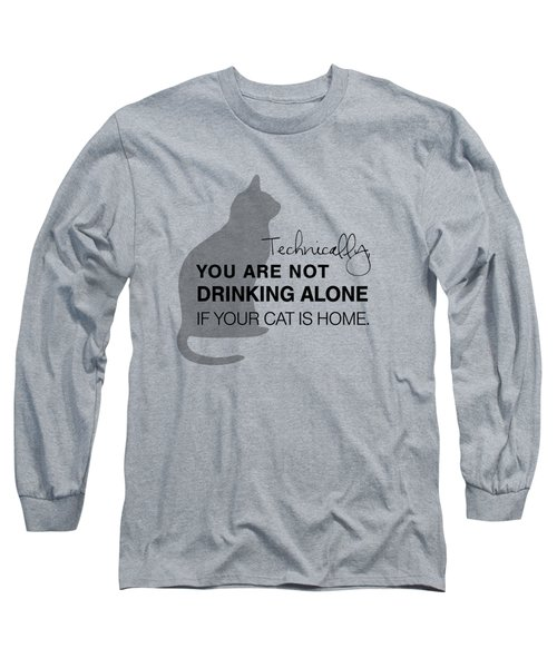 Drinking With Cats Long Sleeve T-Shirt by Nancy Ingersoll