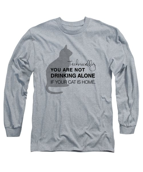 Drinking With Cats Long Sleeve T-Shirt