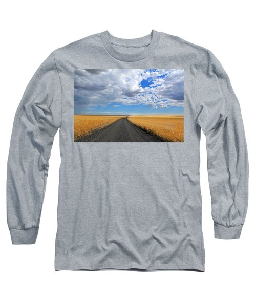 Driving Through The Wheat Fields Long Sleeve T-Shirt by Lynn Hopwood