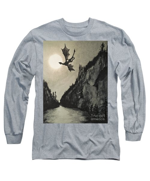 Long Sleeve T-Shirt featuring the painting Drogon's Lair by Suzette Kallen