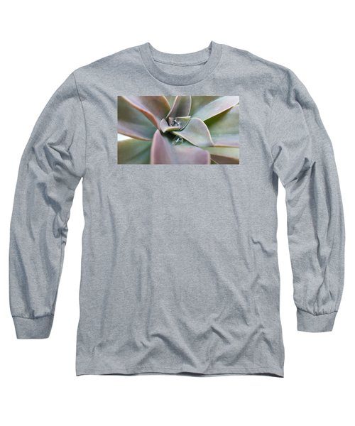 Droplets On Succulent Long Sleeve T-Shirt