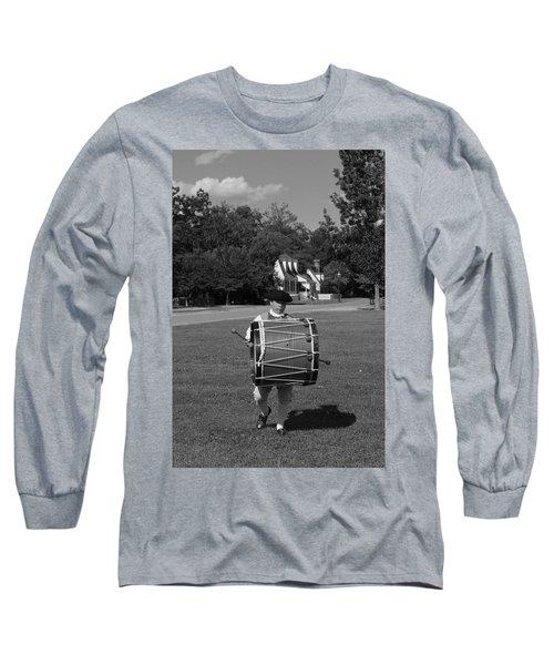 Long Sleeve T-Shirt featuring the photograph Drummer Boy by Eric Liller