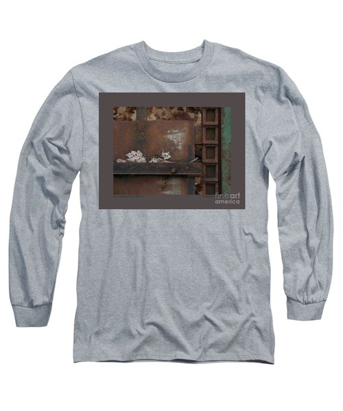 Dry Leaves And Old Steel-iv Long Sleeve T-Shirt by Patricia Overmoyer