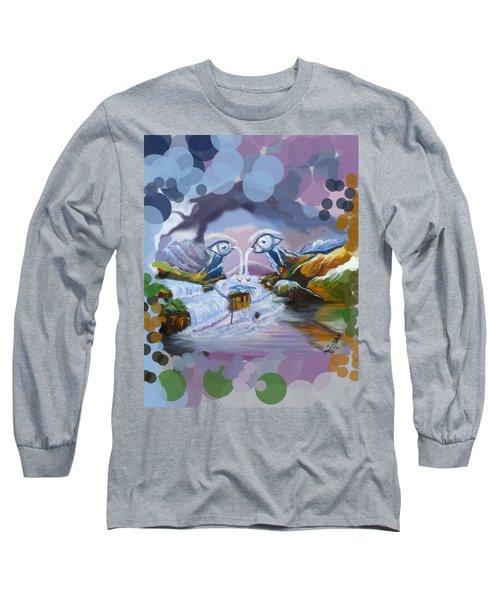 Duck Mountain Waterfall Long Sleeve T-Shirt