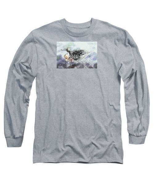 Long Sleeve T-Shirt featuring the photograph Duck With Fine Plumage by Nareeta Martin