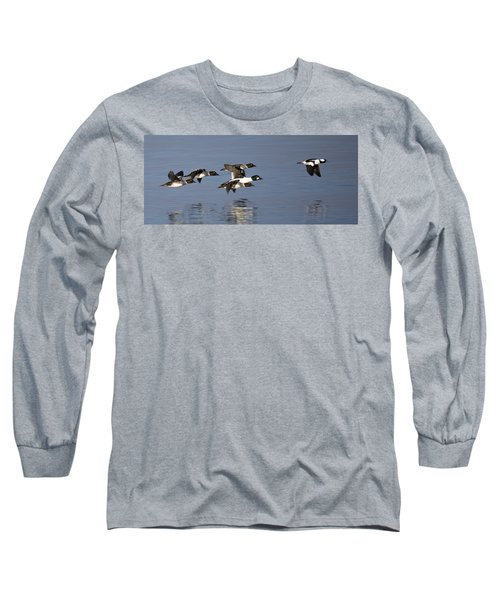 Duckin Out Long Sleeve T-Shirt by Randy Hall